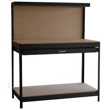 Dateline Workshop 4 Ft Wide By 5 Ft Tall By 2 Ft Deep Black Work Benches Home Depot