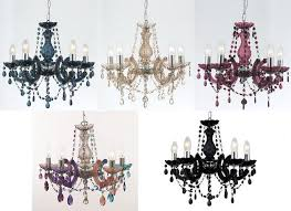 marie therese glass crystal chandelier range 5 colours acrylic arms