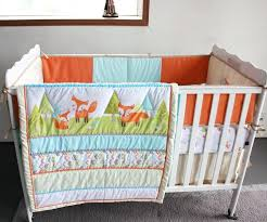 orange crib bedding sets full size of furniture mesmerizing woodland baby bedding foxes newborn crib set