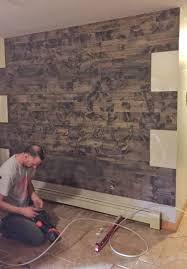 how to fake a reclaimed wood wall wooden accent home depot faux diy bedr full size