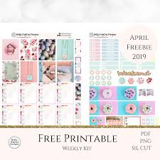Designs By April Etsy Do Not Buy Free Printable Weekly Kit Pastel Spring April