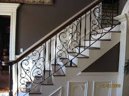 Metal handrails for stairs Wall Mounted Classic Tuscan Metal Modern Stair Railing Ideas You Should Know About Birdny
