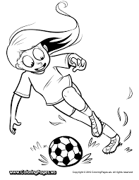 Small Picture Soccer Girl Coloring Pages Free Coloring Pages For Kids
