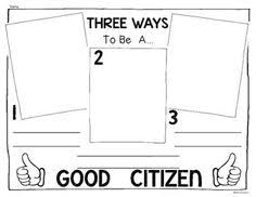 good citizen responsibilities cut and paste activity back to school and being good citizens for kindergarten and first grade