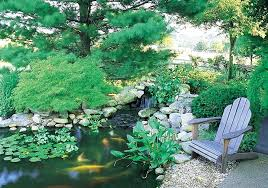 koi pond lighting ideas. Koi Pond Ideas A Weathered Chair Should Be Near Every Backyard Because Of The Fact It Fit Lighting