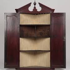 Corner Hanging Cabinet English Chippendale Antique Hanging Corner Cabinet Or Cupboard