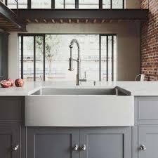 white apron front sink. Wonderful Apron AllinOne Farmhouse Apron  To White Front Sink