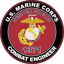 U S M C Mos 1371 Combat Engineer Decal