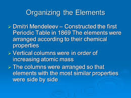 Chapter 4 The Periodic Table. - ppt video online download