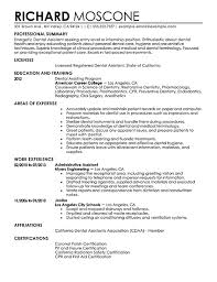 Nobby Dental Resume Samples Exquisite Assistant Sample Free Resumes