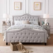Beige Tufted Bed Grey Tufted Bedroom Set Tufted Queen Bedroom Set ...