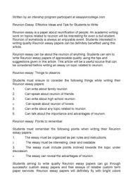 reunion essay effective ideas and tips for students to  reunion essay effective ideas and tips for students to write