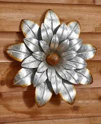 oversized galvanized metal flower wall art sculpture rustic fl decor 20 dia