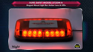 wolo lighting. WOLO Sure Safe Mini LED Lightbar - Amber, 24 LEDs, 10 1/2in.L, Model# 3720M-A Wolo Lighting