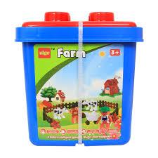 Đồ chơi xếp khối nông trại VBCare VBC-2105 - Đồ chơi xếp hình - lắp ráp -  Bé chơi và học
