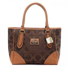 Coach Madison Logo In Signature Large Coffee Totes BQW