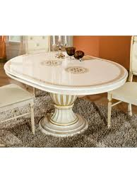 h2o design rosa beige radica gold round extendable table