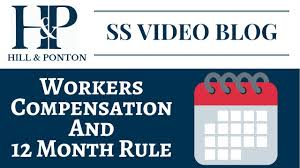 Workmans Comp Settlement Chart Texas Video Blog Workers Comp And 12 Months Rule Hill Ponton