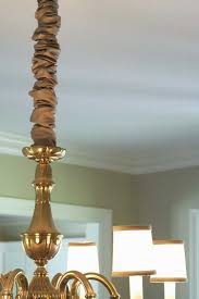 chandelier chain cover fresh cord covers pvc cord cover how to make a no sew tailored