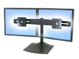 ergotron 33 322 200 ds100 dual monitor desk stand horizontal