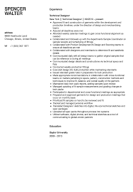 Technical Designer Resumes Technical Designer Resume Sample Velvet Jobs