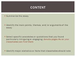 discussion leader example titles authors of essays ppt  5  summarize the essay