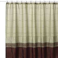 KAS Romana Green Fabric Shower Curtain Bed Bath Beyond