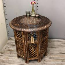 round indian coffee table full size of antique hand carved mango designs