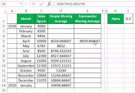 Calculate Moving Average In Excel Simple Exponential And