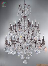 large wrought iron crystal chandelier antique bronze color for remodel 18