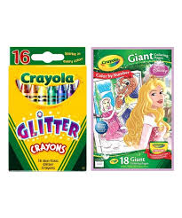 Crayola Disney Princess Giant Coloring Pages Glitter Crayons Zulily