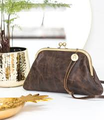 personalised distressed leather shoulder bag by the forest co notonthehighstreet com