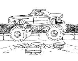 Monster Truck Kleurplaat