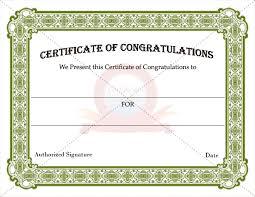 Congratulation Certificate 27 Images Of Congratulations Certificate Template Blank Bfegy Com