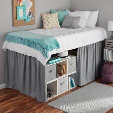 extra long bed skirt. Beautiful Extra Mainstays Extra Long Extended Dorm Bed Skirt In
