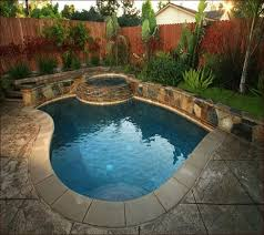pools for small yards - put a waterfall instead of the hot tub