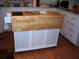 Movable Kitchen Island Rolling White Kitchen Island On Wheels With Drop Leaf Amys Office