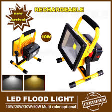 Portable Flood Lights Outdoor Us 296 4 5 Off Portable Rechargeable Led Flood Light 10w Outdoor Led Floodlight Work Lamp For Emergency Camping Hiking Lanterna With Charger In