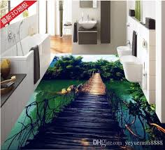 custom 3d stereoscopic living room wallpaper 3d floor tiles wooden bridge bamboo sky wallpaper vinyl flooring 3d wallpaper mural for bedroom screen