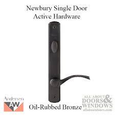 andersen oil rubbed bronze newbury single door active frenchwood 400 series