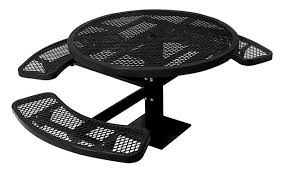 city series round pedestal ada picnic table black