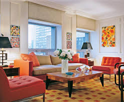 Living Room:Beautiful Color Combination For Colorful Modern Small Living  Room Orange Also Minimalist Wall