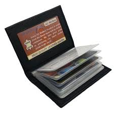ag wallets leather plastic inserts book
