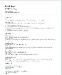 Modern Dance Resume Dance Resume Format Dance Resume Template The Proper Dance Resume