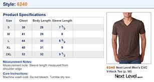 Next Level Mens Cvc Combed Baby Rib Knit V Neck T Shirt