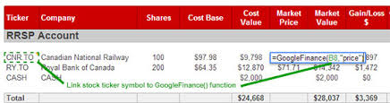 google current stock price how to track your stock portfolio using google docs