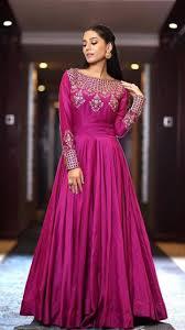 Satin Silk Dress Designs Beautiful Satin Silk Hand Embroidered Gown Designer