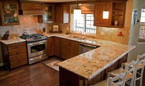 Wooden Knocked Down And Marble Counter Top Tuscan Kitchen Concept