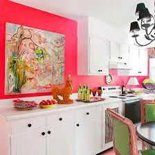 modern kitchen design and decor ideas in purple or pink color
