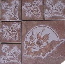 Etched Tile Designs Design Tile Stone Custom Tile Stone And Glass Etching